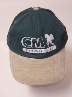 6f6aa0dea57a CM Trailers Tan Green Baseball Cap Hat Adjustable NWOT  Cobra  BaseballCap  Green Baseball Cap
