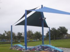 unique designs from our team! check out this shade sail for the playground! #awnings #canopies #shadesails