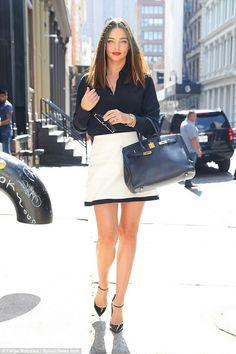 e9dff4350a75 Miranda Kerr wearing Hermes Birkin Bag in Black
