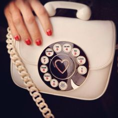 Rotary telephone purse