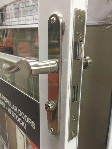 Anderson Exterior Entrance Door Hardware   Side View