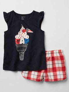 Americana sundae short PJ set