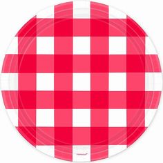 Red Gingham Plates, 10.5?? | 8 ct