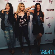 Photo: Kelli Berglund, Olivia Holt and Piper Curda. At The WallFlower Jeans Event.......