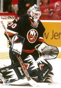 New York Islanders goaltending history : Garth Snow Hockey Goalie, Ice Hockey, Goalie Mask, Stanley Cup Champions, New York Islanders, Nfl Fans, Nhl, Motorcycle Jacket, History