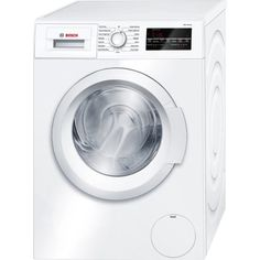 Bosch 300 Series 24 Inch Compact Washer with cu. Capacity, 15 Programs, 1400 RPM, SpeedPerfect Option, Stainless Steel Drum and EcoSilence Motor in White White Washing Machines, Bosch Washing Machine, Washing Machine Reviews, Compact Laundry, Bosch Siemens, Stainless Steel Drum, Laundry Appliances, Bosch Appliances, Kitchen