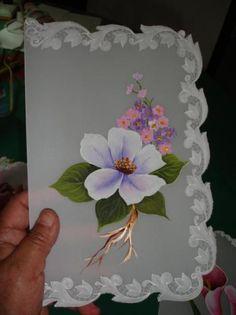 tarjeta en pergamino  papel pergamino 180gr.,acrilicos,tizas pastel repujado,pintado a mano