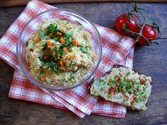 Vöröskaktusz diétázik: Hamis tojáskrém (vegán, paleo) Paleo, Fried Rice, Guacamole, Fries, Mexican, Vegan, Ethnic Recipes, Food, Essen