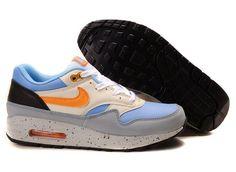 Danmark Billige Nike Air Max 87 Trainers Mænd - Black/Blue/Orange