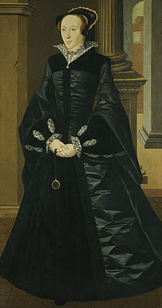 Portrait of an Unknown Lady, by William Scrots, c.1546-55. Portrait of an Unknown Lady of the English Court, formerly identified as Mary I of England, now thought to be Lady Margaret Douglas (1515-1578). Medium oil on panel. Dimensions: 178.4 * 95 cm (70.2 * 37.4 in).