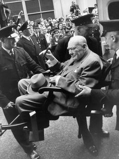 Sir Winston Churchill Leaving Hospital 21 August, 1963; the former prime minister died just five months later, aged 90
