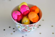Egg and Confetti Cascarones - From 25 Easter Party Ideas for Kids