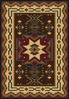 Navajo Star Rug In Red, Skyhawk Rugs