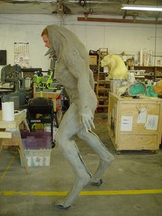 """It's #MonsterSuitMonday! Here's suit actor Brian Steele doing a test fitting for """"Underworld""""."""