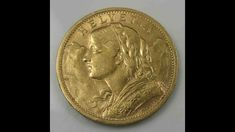 Switzerland Suisse 20 Francs 1901 Vreneli Gold Gold Coins, Switzerland