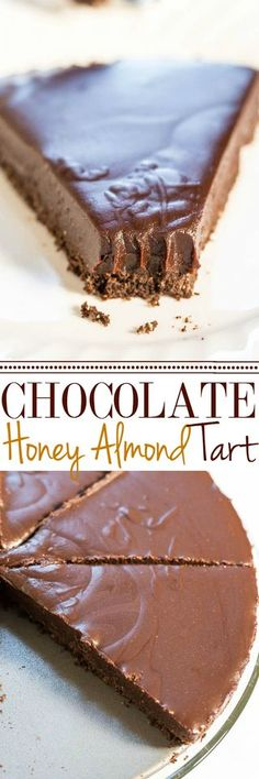 Chocolate Honey Almond Tart