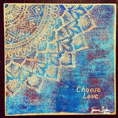 Choose Love carved mandala, x by Jamie Locke Art Pour Painting, Stencil Painting, Stenciling, Henna Art, Henna Mandala, Mandala Tattoo, Moroccan Art, Altered Canvas, Choose Love