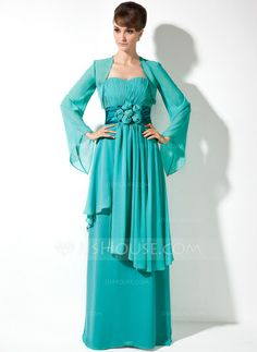 Mother of the Bride Dresses - $126.99 - Empire Sweetheart Floor-Length Chiffon Charmeuse Mother of the Bride Dress With Ruffle Flower(s) (008005971) http://jjshouse.com/Empire-Sweetheart-Floor-Length-Chiffon-Charmeuse-Mother-Of-The-Bride-Dress-With-Ruffle-Flower-S-008005971-g5971