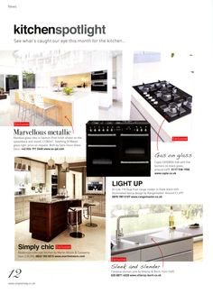 Simply chic: Martin Moore's Modernist kitchen collection. http://martinmoore.com -  Utopia Kitchen & Bathroom November 2013