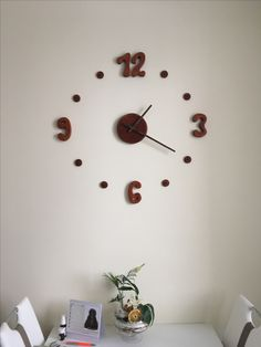 Clock wood homemade