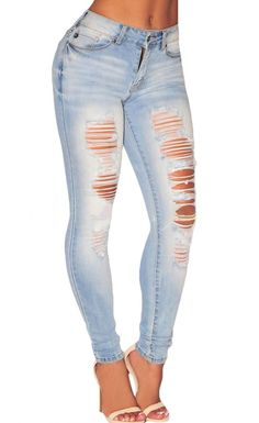 distressed skinny jeans with a slouchy plain top would be so cute