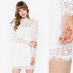 Villette White Lace Bodycon Dress