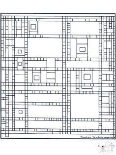 Painter Mondriaan - Art coloring pages