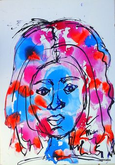 Portfolio 1 -'Ladies series' 3; Ink on paperboard;2016 miabo enyadike www.artmiabo.com