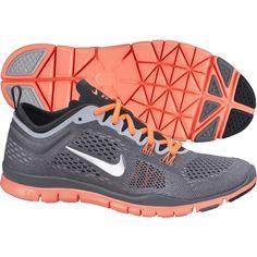 Nike Womens Free 5.0 TR FIT 4 Training Shoes Grey Mango 629496 006 - Click  Image
