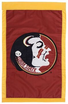 NCAA Florida State Seminoles Double Sided 29 x 44-Inch Applique Flag by Evergreen. $24.95. Flag measures 29 x 44-inches. Quality fabric and stitching create a flag that will last. Show your team spirit with this officially licensed NCAA flag. Go Seminoles!. Appliquéd, double-sided, fade-resistant flag. Show your team spirit with this double sided appliqué house flag, which measures 29 x 44 inches. Quality fabric and stitching make our appliqué flags last and last...