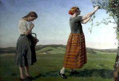Blackberries, 1922 by Harold Harvey (1874-1941)