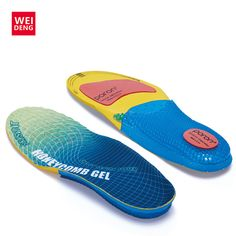 EVA Silica Gel Men Sport Shoe Insoles Shock Absorber Soft Honeycomb Comfortable Light Against Stench Breathable Running Pad