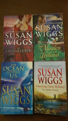 Susan Wiggs Books 4 Lot Books THE LIGHTKEEPER The Ocean Between Us THE MAIDEN +