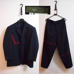ワケ有り美品!Y's for MEN 毛糸つぎセットアップスーツ3釦S紺 - ヤフオク!