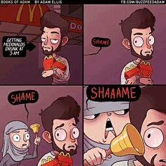 Mi conciencia cada vez que salgo del McDonalds Imagenes de humor