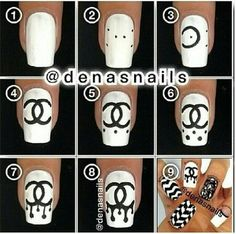 Learn All You Can About Hobbies Here - Gucci Nails - Ideas of Gucci Nails - I wouldn't do the Chanel symbol but it shows you how to do the dripping effect Fancy Nails, Bling Nails, Swag Nails, Cute Nails, Pretty Nails, Chanel Nails Design, Chanel Nail Art, Gucci Nails, Best Acrylic Nails