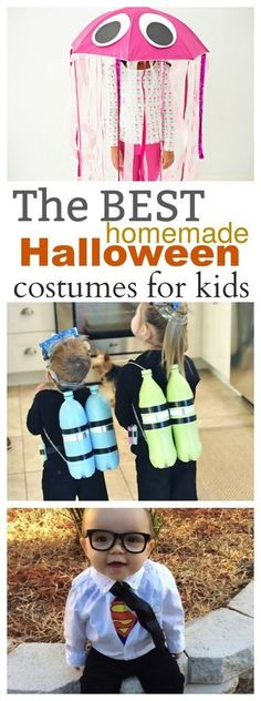The Best Halloween Costumes for Kids - these are all great DIY and Homemade Costumes that you can make yourself! Your Kids Halloween Costumes will be the talk of the town with these adorable ideas!