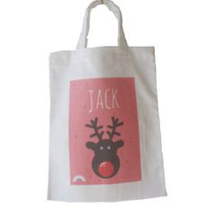 CHRISTMAS :: PERSONALISED RUDOLF BAG :: MINI TOTE