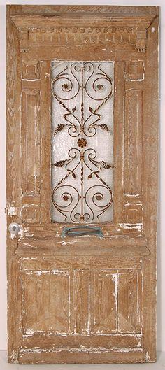antique greek revival oak door