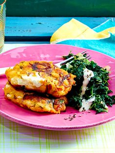 Süßkartoffel-Feta-Frikadellen mit Spinat potato al horno asadas fritas recetas diet diet plan diet recipes recipes Spinach Recipes, Vegetable Recipes, Diet Recipes, Vegetarian Recipes, Healthy Recipes, Vegetarian Breakfast, Potato Recipes, Clean Eating, Healthy Eating
