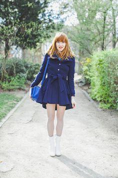 Eléonore bridge :) Magnifique manteaux bleu asos :)