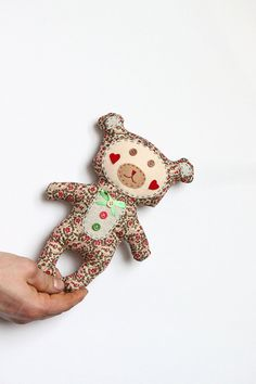 Cute fabric Teddy bear toy - home decor toy - baby shower gift - ready to ship