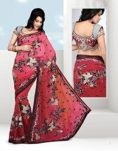Grab this Magnificient Crimson & Deep Pink Embroidered Saree and get 20% off on this Diwali. To avail offer use voucher code: DIWALI20 Check it here: http://www.gravity-fashion.com/11378-magnificient-crimson-deep-pink-embroidered-saree.html