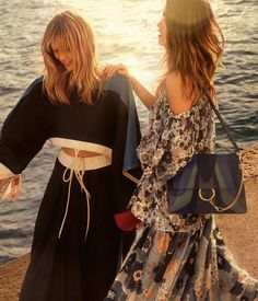 From @chloe Tag your friends and follow us for more... #chloeGIRLS and the sea  join us at the waters edge in our new #SS17 campaign with statement looks and the updated Faye bag now available for pre-order on chloe.com