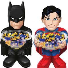 DC Comics Batman & Superman Candy Bowl Holders