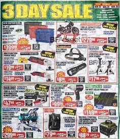 Harbor Freight Black Friday 2018 Ads and Deals Browse the Harbor Freight Black Friday 2018 ad scan and the complete product by product sales listing. Origin Of Black Friday, Black Friday 2019, Best Black Friday, Black Friday Store Hours, Black Friday Shopping, Rainbow Six Siege Hoodie, Black Friday Laptop Deals, Harbor Freight Tools, Earth Day Projects