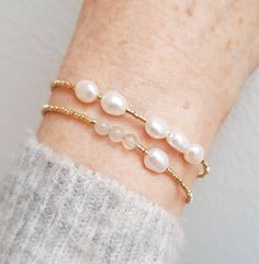 Seed Bead Bracelets, Pearl Bracelets, Pearl Rings, Pearl Necklaces, Jewelry Necklaces, Jewelery, Blog Art, Wedding Gifts For Bridesmaids, Moon Jewelry