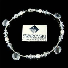 This is a new handmade Swarovski ankle / bracelet. SIMPLE BUT ELEGANT  BEAUTIFUL…