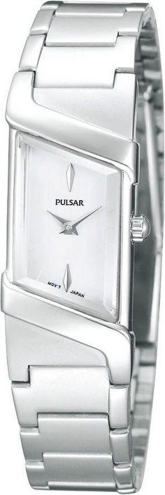 Pulsar Dameshorloge type PEGG25X1. Een geweldig designhorloge met een zilverkleurige band en kast die het al jaren goed doet omdat het horloge tijdloos is vormgegeven en toch heel modern en trendy is. De wijzerplaat is wit en is in een bijzondere vorm gemaakt.Het horloge is (spat)waterdicht en heeft dat sterke Hardlexglas. https://www.timefortrends.nl/horloges/pulsar.html