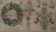1839 Needlework Sampler from Germany - Beautiful Biedermeier Animal and Flower Designs